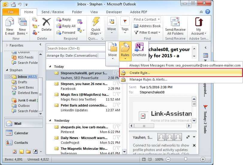 Set up auto reply in microsoft outlook for instant emails replies create rule for auto reply pronofoot35fo Images