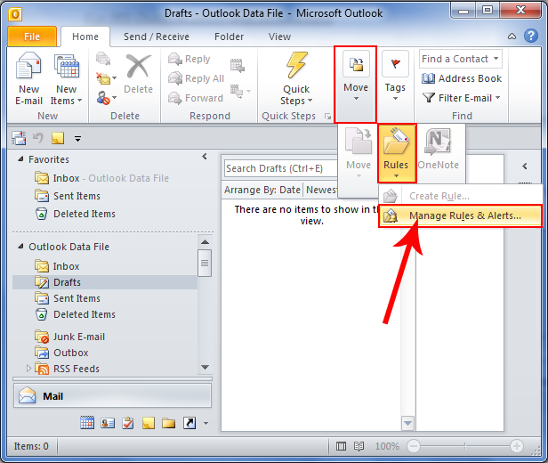 manage  u0026 create microsoft outlook rules for emails
