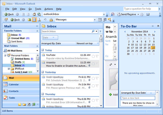 Open MS Outlook  Microsoft Daily Planner