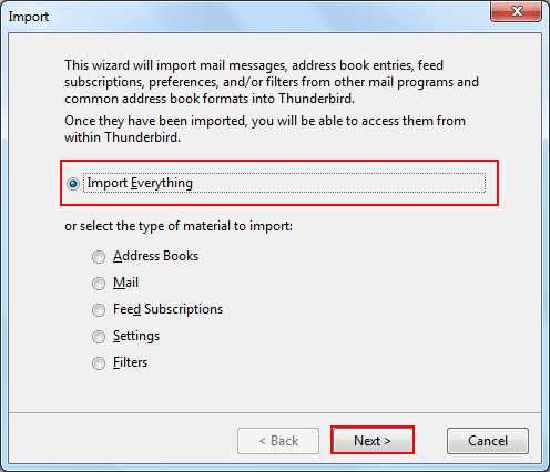 Select import everything