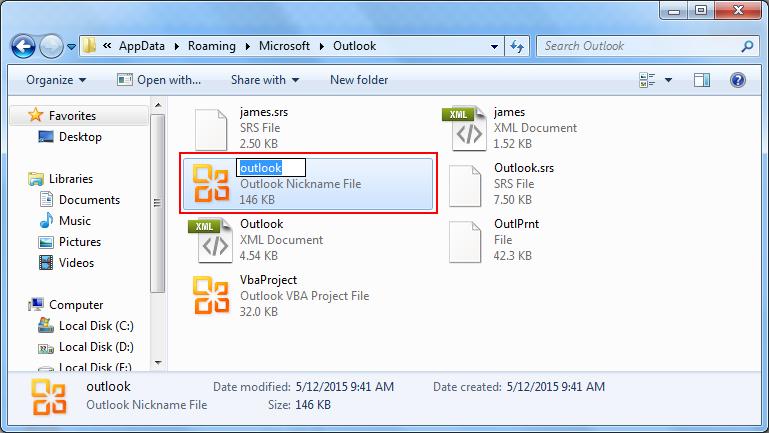 rename NK2 File