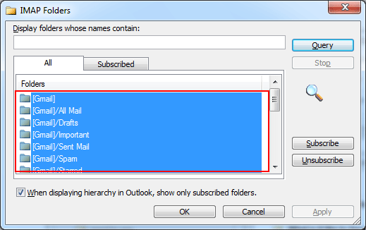Select all Folders