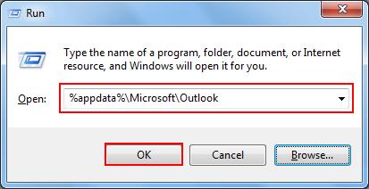 type %appdata%\Microsoft\Outlook