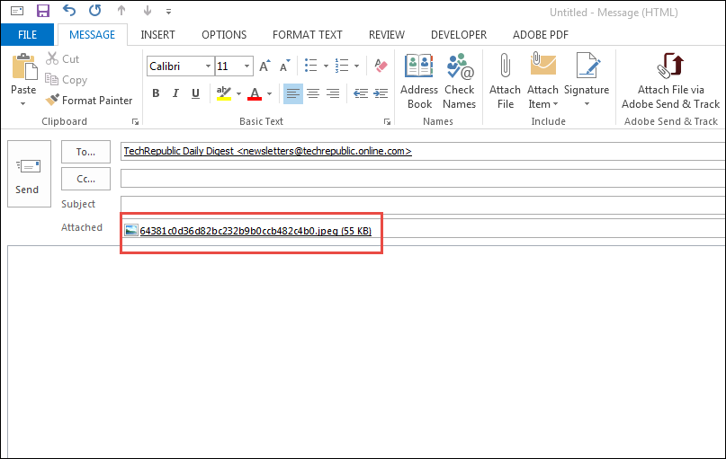 What I do when Outlook Attachments Appearing in Message Body