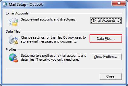 select the data file