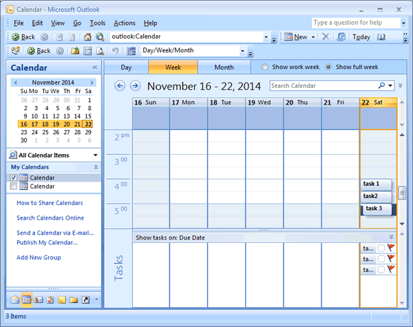 create manage daily task list planner in ms outlook